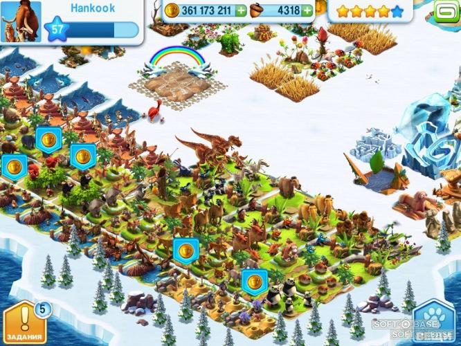 Ледниковый период: Деревушка - скачать бесплатно русскую версию Ледниковый период: Деревушка для Android