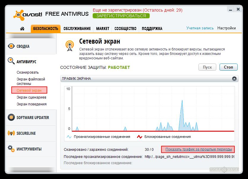 аваст блокирует интернет